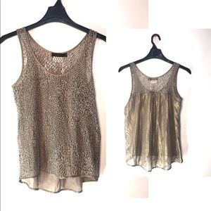 The Limited Net Top With Metallic Back